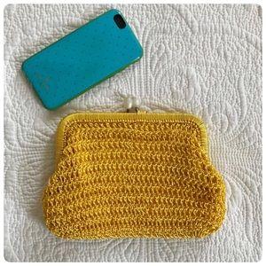 Vintage Saks 5th Avenue yellow clutch